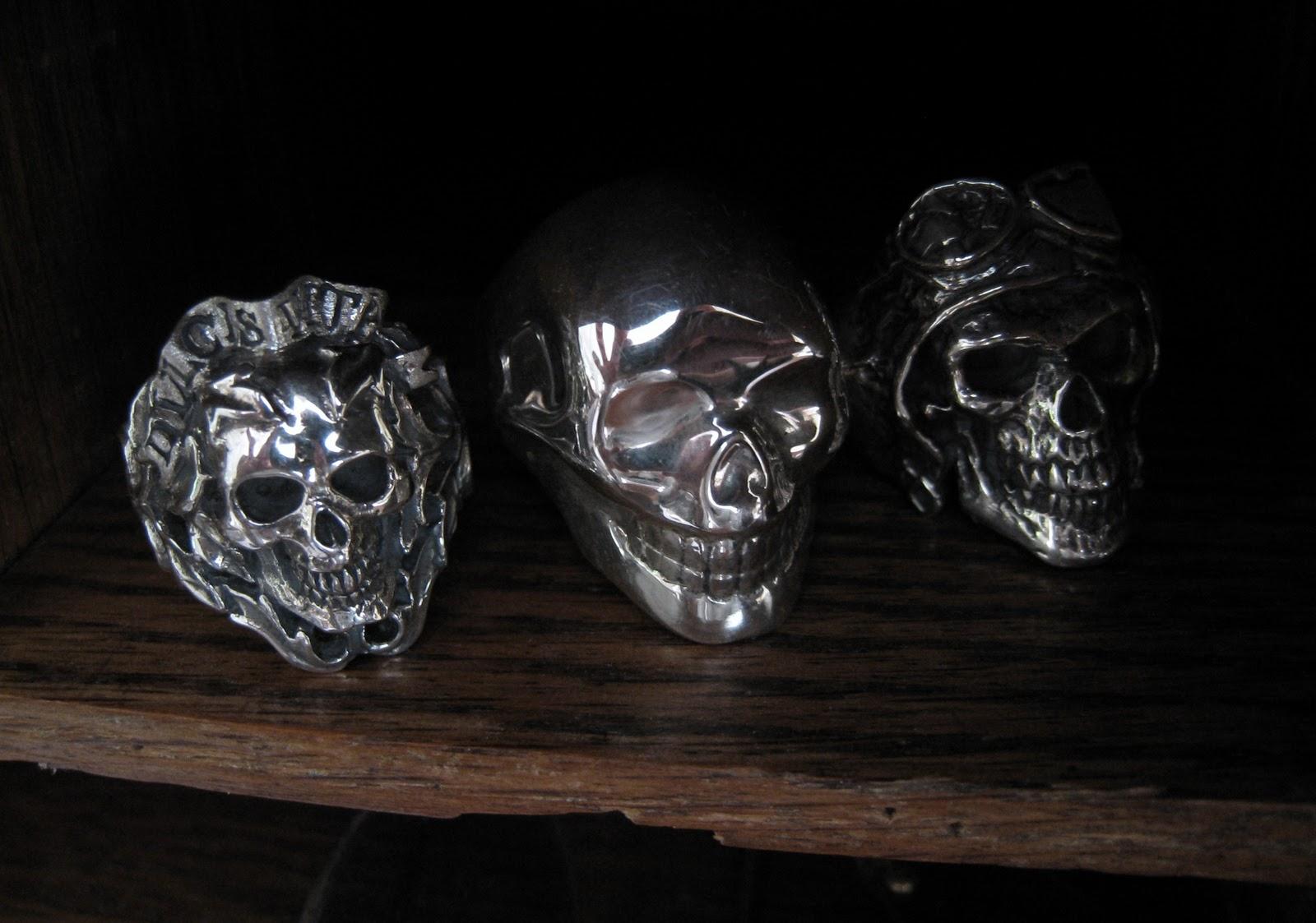 Crazy Pig Designs New Skull Rings At Crazy Pig Designs