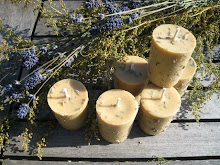 Vanilla-Lavender Beeswax Votives