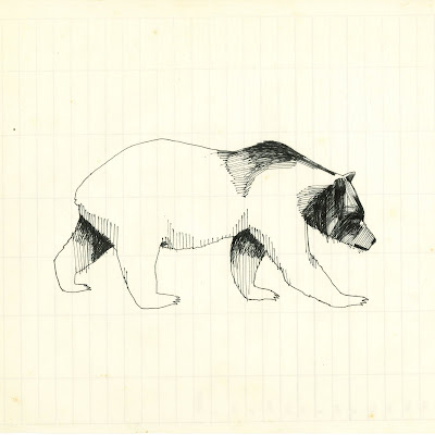 here's a drawing of a bear for my friend dara for a tattoo.