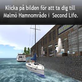 Länk till Malmö Hamn i Second life (SLURL)