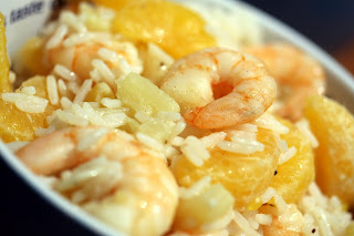 rákfarkok ananászos-mandarinos rizzsel