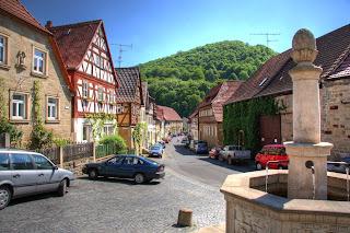 utca régi épületek Zeil am Main