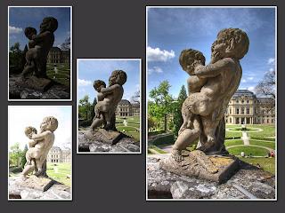 hdr suli würzburg püspöki rezidencia birkózó szobor gyerek gyermek