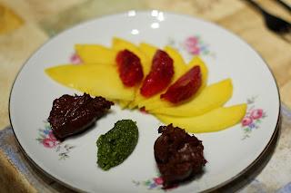 mangó vérnarancs narancs pisztácia csoki mousse csokoládé mousse