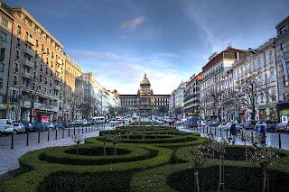 vencel tér nemzeti múzeum hdr prága csehország