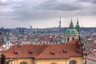 prága látkép csehország hdr