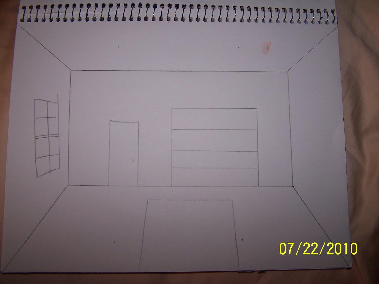 davidmcbane one point perspective bedroom