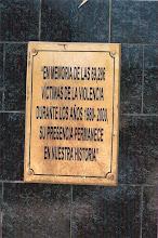 Placa de la Estela del Recuerdo, Piura