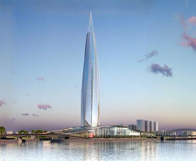RMJM's Gazprom Tower - wiping away heritage stuff