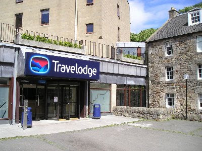 the luxurious Travelodge in the west end of Edinburgh