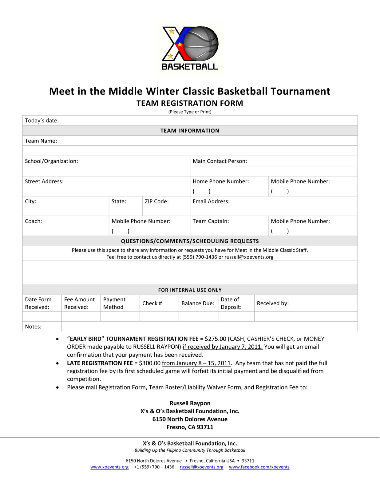 basketball registration form template. Black Bedroom Furniture Sets. Home Design Ideas