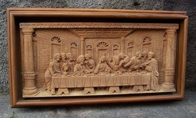 Last Supper Wood Carving
