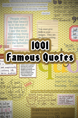 quotes for mobile. This iPhone application is all about famous quotes given by famous authors