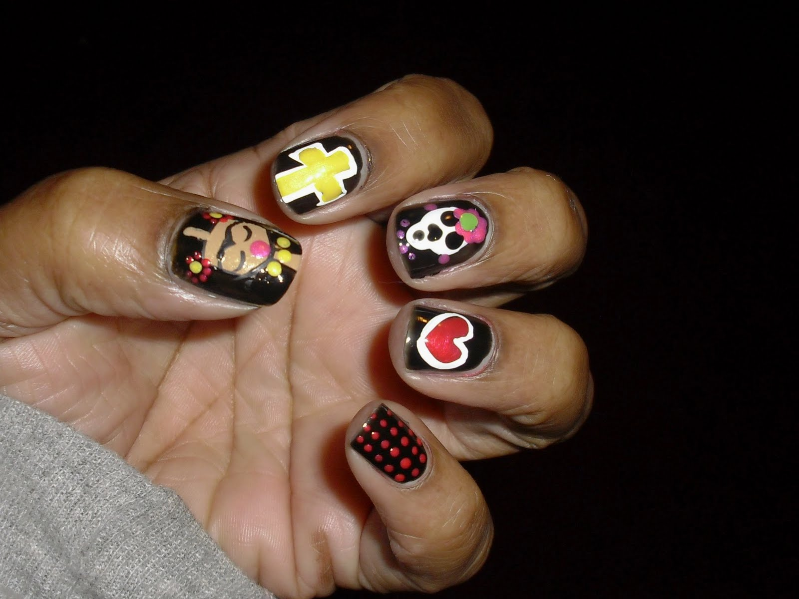 The Princess of Polish: The Princess of Polish..Day of the Dead Nails