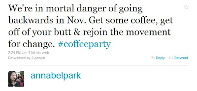 Coffee Party Founder Is Obama Campaign Operative Annabel+Park+ +Twitter++
