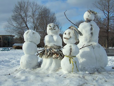 canadian snowman family