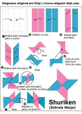 Как сделать сюрикена из бумаги
