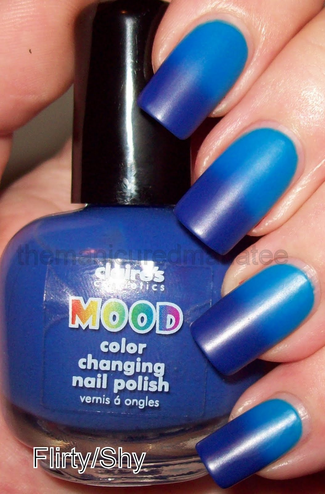 The Manicured Manatee: Claire\'s Mood Changing Polish Flirty/Shy