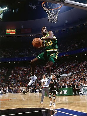 36b4c531cd81 What shoes did Shawn Kemp wear his first years in the NBA