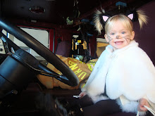 Kitty in a fire truck!