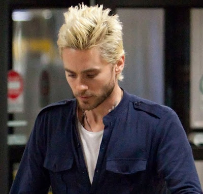 Jared Leto's latest spiky and bleached blond hair are as rocking as his ...