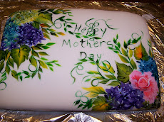 Hand Painted cake for Five Generations