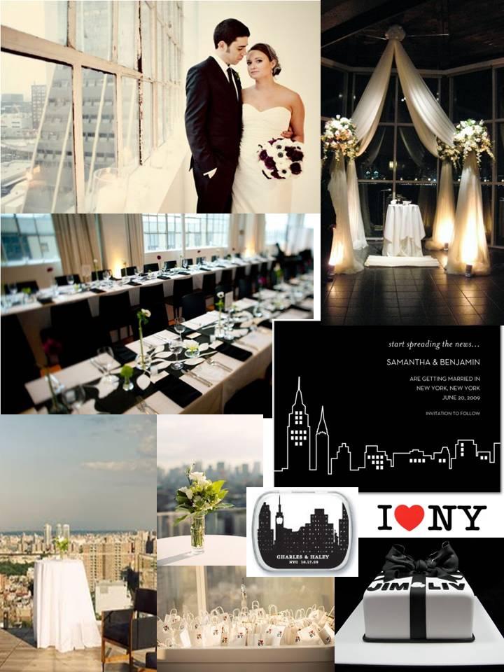 rivernorthLove: a Black&White NYC themed wedding