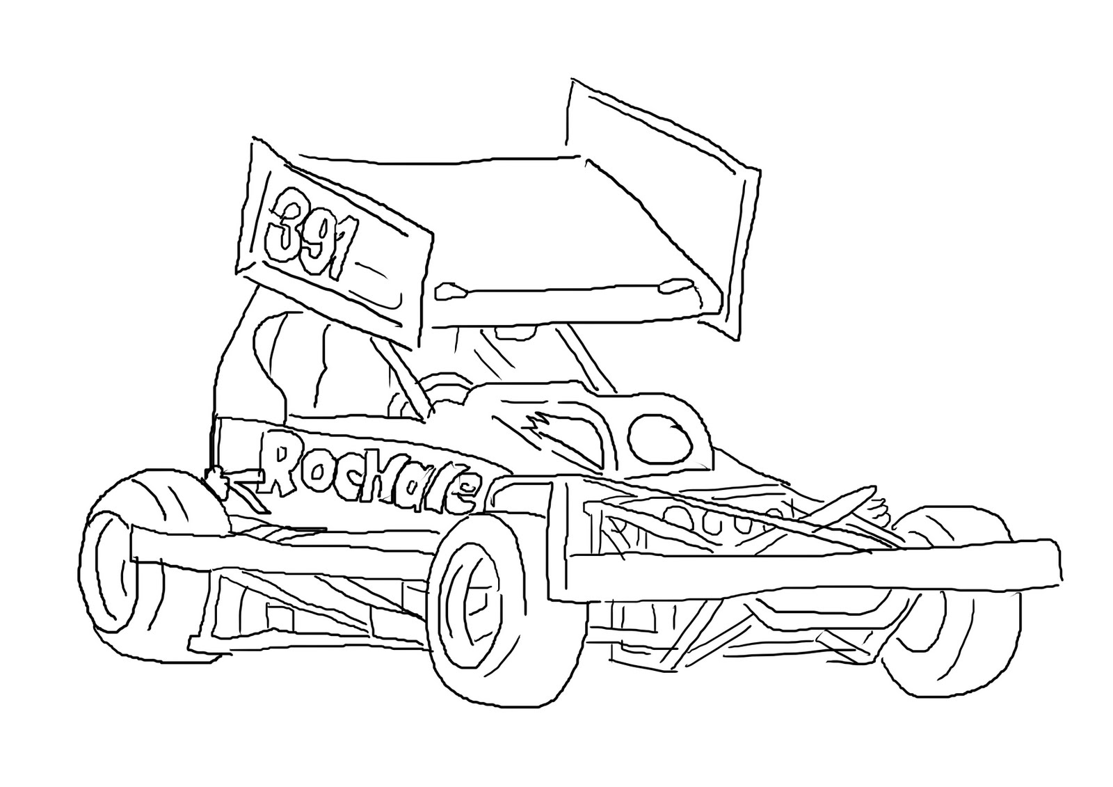 Free coloring pages of dirt stock car