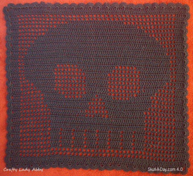Skull A Day 40 Tutorial 2 Filet Crochet Skull