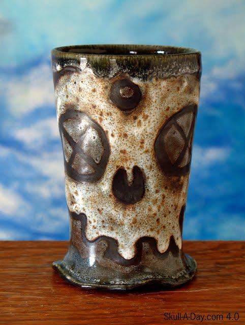 Ceramic Skull Cups