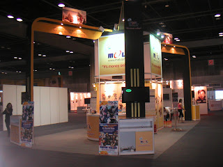Our booth's at the back, Hall 403-404