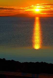 Sunrise on Lake Superior viewed from Duluth
