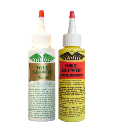 ... Products : Wild Growth Hair Oil & Wild Growth Light Hair Moisturizer