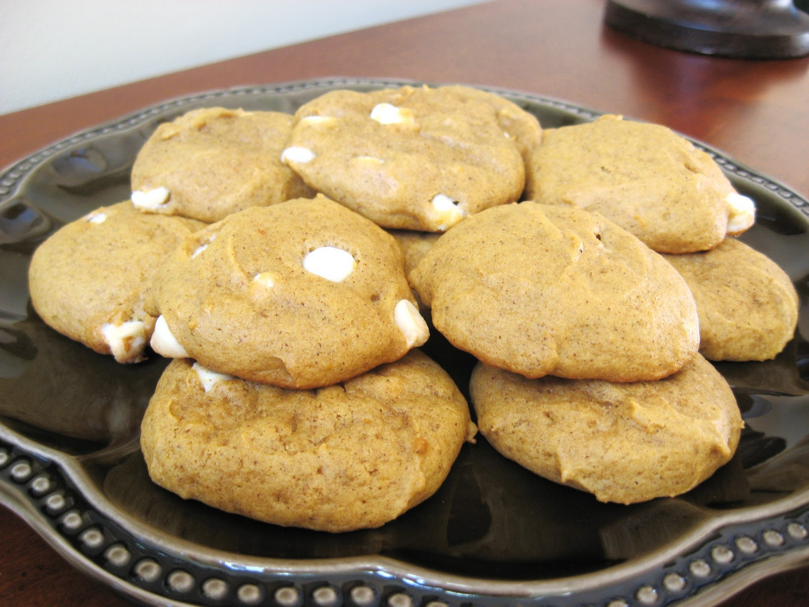 Pumpkin Pecan White Chocolate Cookies Recipe — Dishmaps