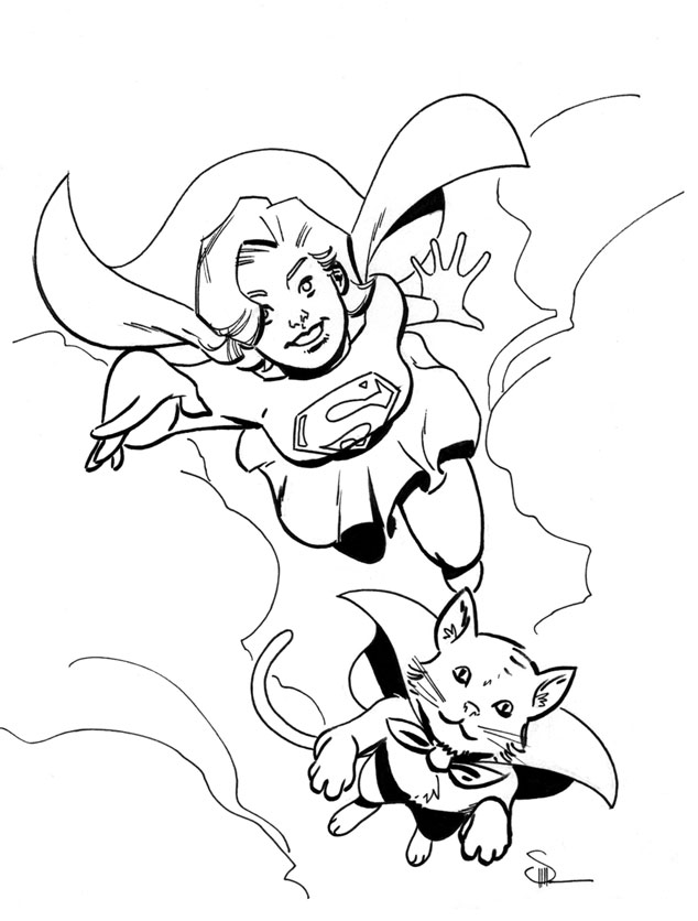 streaky the supercat coloring pages - photo#3