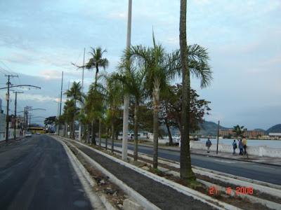 Implantação de ciclovia em Santos na Ponta da Praia