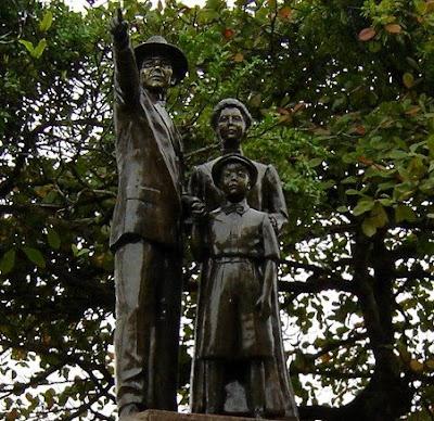 Detalhe do Momumento em homenagem a Imigração Japonesa em Santos SP Brasil - foto de Emilio Pechini