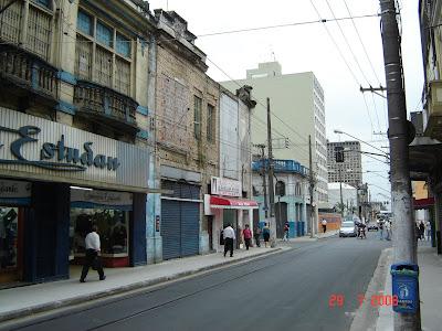 Rua General Câmara - próxima a rua Martim Afonso - foto de Emilio Pechini