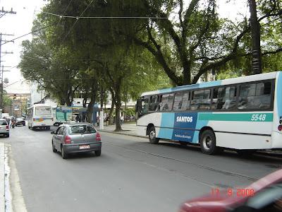 Praça Mauá em Santos - SP - Foto de Emilio Pechini em 17/09/2008