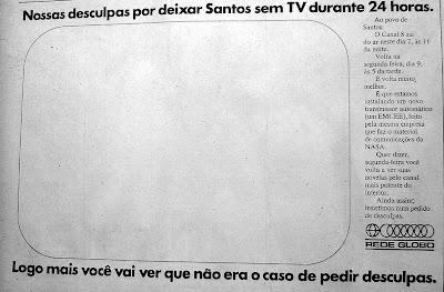 Reprodução - jornal Cidade de Santos - Julho de 1973