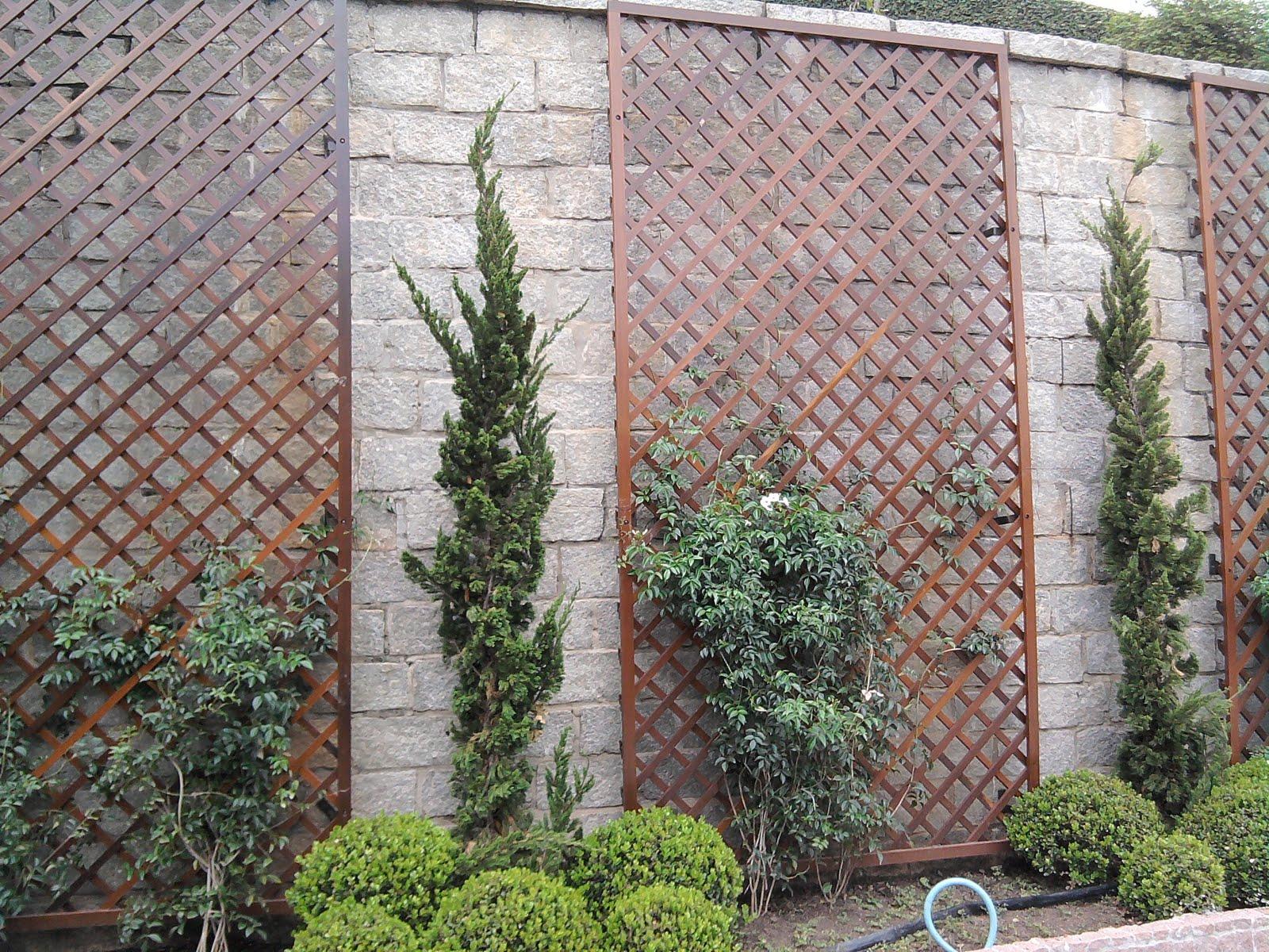 Rolf Trettin Carpintaria & Arte em Madeira Treliça para jardim