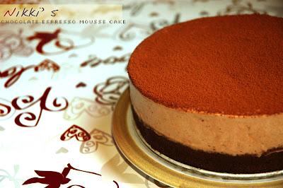 ChocoBrandy: Dad's BD & Chocolate Espresso Mousse Cake