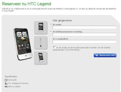 HTC Legend, un secreto a voces