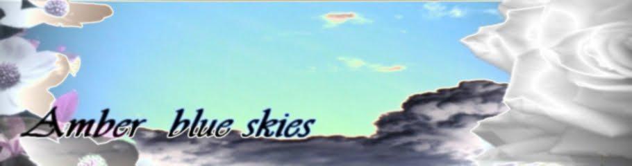 amber blue skies
