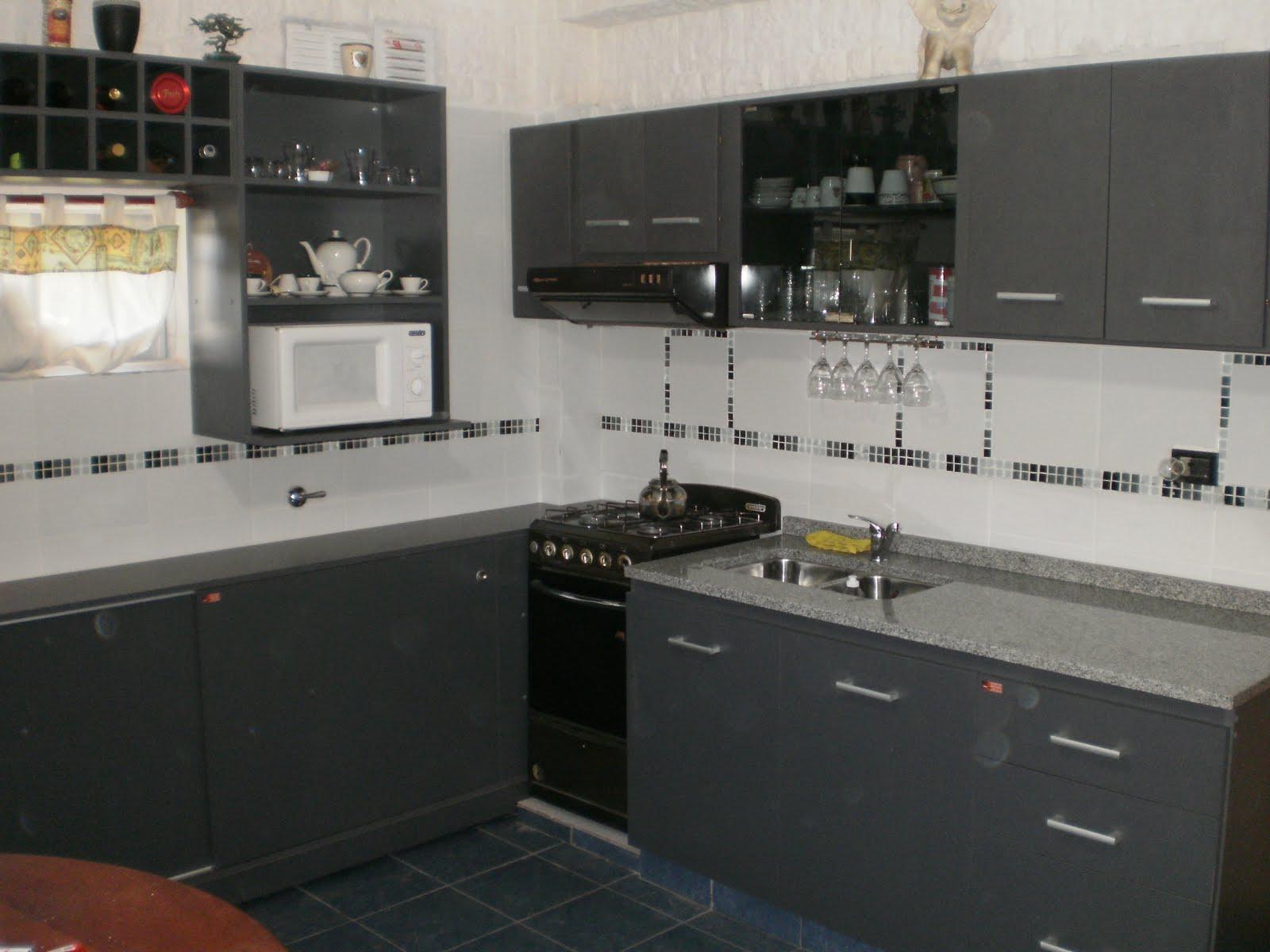 D f r muebles cocina con bajo mesadas alacenas vinoteca for Muebles bajos cocina negro