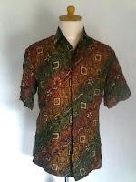 Baju Batik Pria Hem Viskos Gradasi