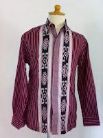 Baju batik pria Hem Lurik SBY panjang
