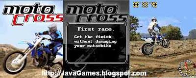 Motocross 3D java games screenshoot