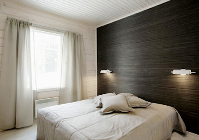 Bedroom on Black Bedroom Accent Wall