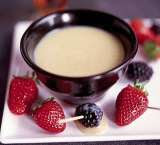 White Chocolate Almond Fondue